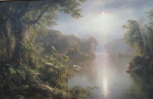 El Rio de Luz (The River of Light), oil on canvas, 1877. Frederic Edwin Church, National Gallery of Art.